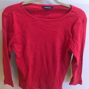 Lands End Top Red